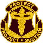 STICKER US ARMY UNIT  US Army Medical Research Material Cmd