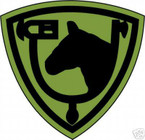 STICKER US ARMY UNIT  61ST Cavalry Div. SHIELD SUB