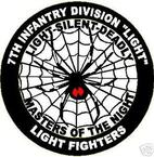 STICKER US ARMY UNIT   7TH INFANTRY LIGHT FIGHTERS