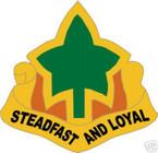 STICKER US ARMY UNIT   4TH INFANTRY DIV SHIELD COL