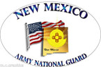 STICKER US Army National Guard New Mexico with Flag