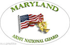STICKER US Army National Guard Maryland with Flag