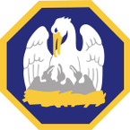 STICKER US ARMY NATIONAL GUARD Louisiana