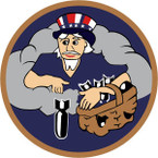 STICKER US ARMY AIR FORCE  524th Bomb Squadron - 379th Bomb Group - 8th Air Force