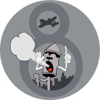 STICKER US ARMY AIR CORPS 8th Air Warning Squadron - Greenwich Village - NY