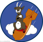 STICKER US ARMY AIR CORPS  323rd Bomb Squadron