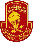 STICKER US ARMY 377th Parachute Field Artillery Battalion