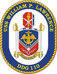 STICKER U.S. Navy USS William P Lawrence DDG 110 Destroyer Emblem Crest