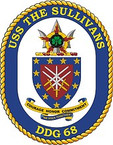STICKER U.S. Navy USS Sullivans DDG 68 Destroyer Emblem Crest