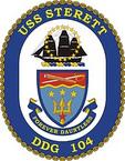 STICKER U.S. Navy USS Sterett DDG 104 Destroyer Emblem Crest
