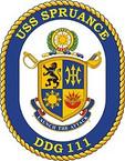 STICKER U.S. Navy USS Spruance DDG 111 Destroyer Emblem Crest