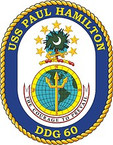 STICKER U.S. Navy USS Paul Hamilton DDG 60 Destroyer Emblem Crest