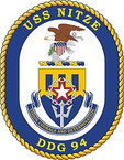 STICKER U.S. Navy USS Nitze DDG 94 Destroyer Emblem Crest