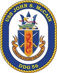 STICKER U.S. Navy USS John S McCain DDG 56 Destroyer Emblem Crest