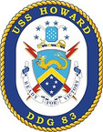 STICKER U.S. Navy USS Howard DDG 83 Destroyer Emblem Crest