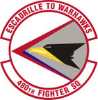 STICKER USAF 480th Fighter Squadron Emblem