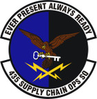 STICKER USAF 435th Supply Chain Operations Squadron Emblem