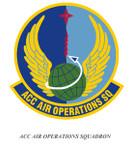 STICKER USAF Air Combat Command Air Operations Squadron Emblem