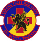 STICKER USAF 43rd Medical Squadron Emblem
