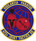 STICKER USAF 422nd Joint Tactics Squadron Emblem