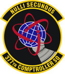 STICKER USAF 377th Comptroller Squadron Emblem