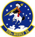 STICKER USAF 320th Missile Squadron Emblem