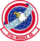 STICKER USAF 319th Missile Squadron Emblem