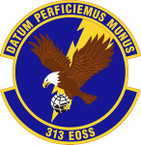 STICKER USAF 313th Expeditionary Operations Support Squadron Emblem