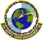 STICKER USAF 424th Supply Chain Management Squadron Emblem