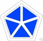 STICKER U S ARMY UNIT V Corps