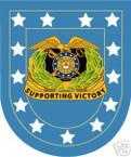 STICKER U S ARMY FLASH QUARTERMASTER CORPS