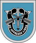 STICKER U S ARMY FLASH 9TH SPECIAL FORCES GROUP