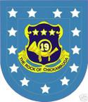 STICKER U S ARMY FLASH  19TH INFANTRY REG