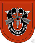 STICKER U S ARMY FLASH   7TH SPECIAL FORCES GROUP
