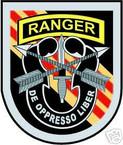 STICKER U S ARMY FLASH   5TH SPECIAL FORCES w TAB