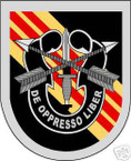 STICKER U S ARMY FLASH   5TH SPECIAL FORCES GROUP