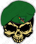 STICKER U S ARMY FLASH 10TH SPECIAL FORCES GROUP BAD TOLZ SKULL