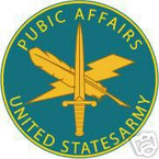 STICKER U S ARMY BRANCH PUBLIC AFFAIRS