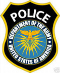 STICKER U S ARMY BRANCH POLICE DEPARTMENT