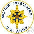 STICKER U S ARMY BRANCH MILITARY INTELIGENCE