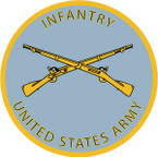 STICKER U S ARMY BRANCH INFANTRY UNIT