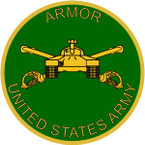 STICKER U S ARMY BRANCH ARMOR TANK UNIT M1
