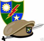 STICKER U S ARMY BERET UNIT RANGER BERET DAGGER