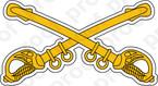 STICKER U S ARMY BADGE Calvary Sabers COL