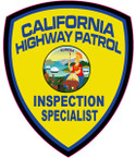 STICKER California Highway Patrol INS SPEC