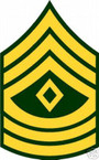 STICKER RANK US ARMY E9 FIRST SERGEANT VINYL