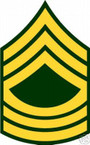 STICKER RANK US ARMY E8 MASTER SERGEANT VINYL