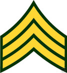 STICKER RANK US ARMY E5 SERGEANT VINYL