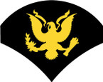 STICKER RANK US ARMY E4 SPECIALIST BLK