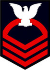 STICKER RANK U S NAVY E7 CHIEF PETTY OFFICER B